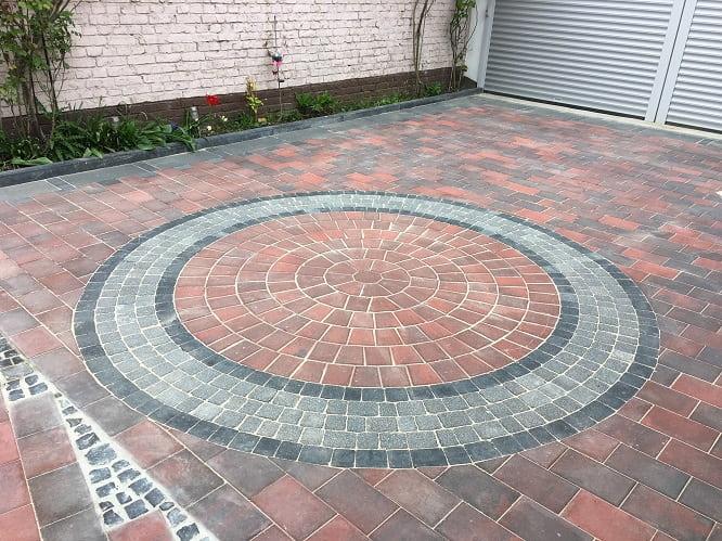 Kreisförmige Pflasterung Frankfurt
