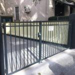 Einfahrt Tor Metall
